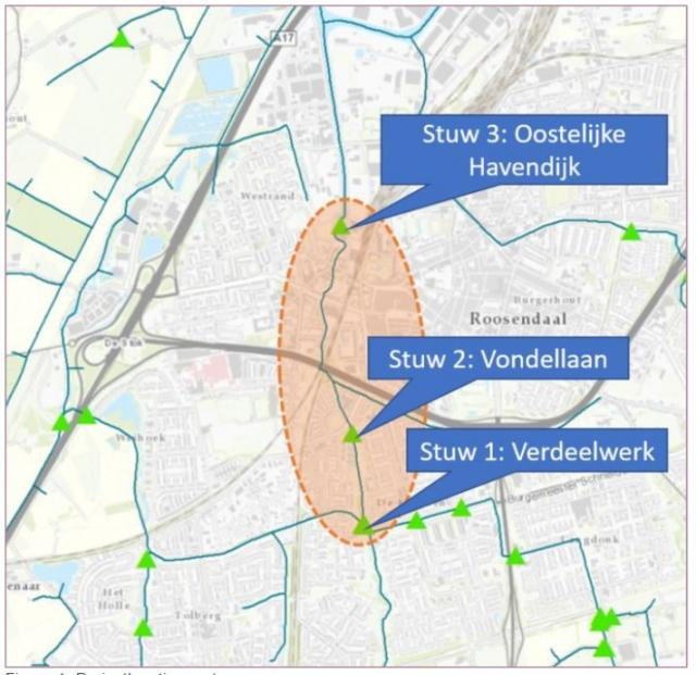 Plattegrond vispassages Molenbeek